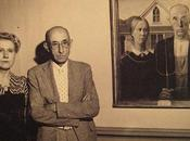Models Were Used 'American Gothic' Standing Painting