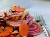 Food: Asian Striped Beet Carrot Salad.