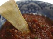 Best Fire Roasted Tomato Salsa Ever Baked Tortilla Chips