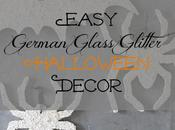 Easy German Glass Glitter Halloween Decor