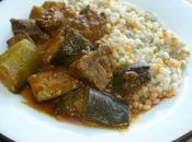 Iranian Zucchini Beef Stew with Tri-Colour Cous-cous