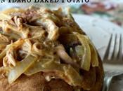 Turkey, Bacon, Onion Gravy Idaho Baked Potato
