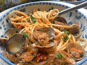 SICILY! Land, Many Faces Linguine with Spicy Italian Sausage Clams Follow