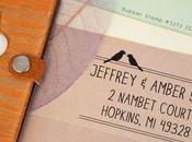 Beautiful Custom Address Rubber Stamp Wedding Invitations
