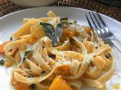 Fettuccine with Roasted Butternut Squash Sage