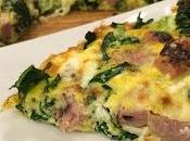 Sausage Kale Goat Cheese Frittata