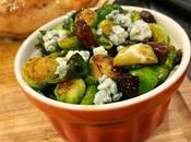 Maple Brussels Sprouts with Blue Cheese Bacon