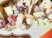 Sweet Turkey Salad Pita Sandwiches with Apples Grapes