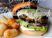 Turkey Burgers with Cheddar Spinach