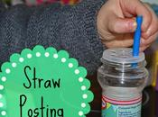 Sensory Play: Straw Posting
