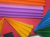 Pleated Paper Rainbow Circle