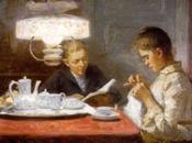 Women Reading Sewing