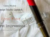 Lakme Absolute Sculpt Studio Matte Lipstick Coral Flare| First Impressions Swatches