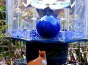 Krishna Statue Meditating Squirrel