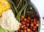Delicious: Spicy Chickpea, Asparagus Crispy Polenta Bowls from Half Baked Harvest.