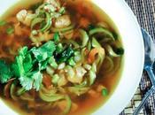 Spicy Thai Chicken Zucchini Noodle Soup