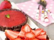 Neapolitan Tarts (Chocolate Crust with No-Bake Strawberry Cheesecake Filling)