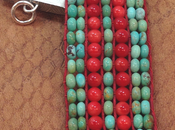 Turquoise Coral Loom Bracelet Here Loomed Bracel...