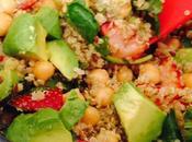 Avocado, Strawberry Quinoa Salad