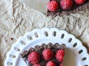 Bake Raspberry Chocolate Tart (Paleo, Vegan,