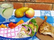 Duck with Pear Wraps Limeade Chia Seeds #bloggerclue