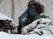 French Homeless Snow National Embarrassment