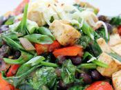 Food: Mexican Tofu Spinach Stir Fry.