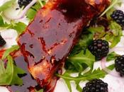 Salmon Blackberry Salad with Dressing