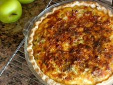 Fennel, Onion, Apple, Cheddar, Sage Quiche
