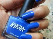 Nykaa Nail Enamels Blue Raspberry, Tropical Tangerine (Review)