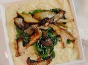 Polenta with Aged Gouda, Chard Wild Mushrooms #SundaySupper