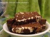 Touron Chocolat Noir Cacahuètes Dark Chocolate Turrón with Peanuts Negro Cacahuete