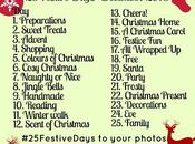 #25FestiveDays December Instagram Photo Challenge