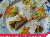 Carrot Chapati Roll Recipe