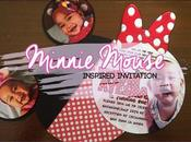 Invitation Minnie Mouse Inspired
