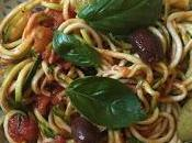 Courgetti with Tomato Sauce Olives