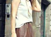 Landing No153: Leather Midi Skirt