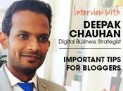 Interview with Deepak Chauhan from Vocso, Sharing Blogging Tips Bloggers