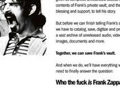 Fuck Frank Zappa? Crowdfunding Documentary Drum Roll Saving And/or Owning FZ's Vault House