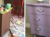 Before After Lavender Dresser Makeover Teen's Bedroom!