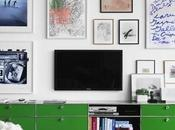 Montage: Living Rooms With Televisions Above Media Unit