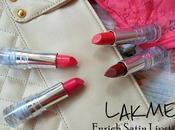 Lakme Enrich Satin Lipsticks P147, P149, P165, R360 Review, Swatches, Lips