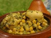 Tajine Poulet Pois Chiches Chicken Tagine with Chickpeas Pollo Garbanzos طاجين الدجاج الحمص