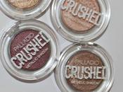 Review Swatches Palladio's Crushed Metallic Eyeshadows