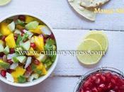 Mango Pomegranate Tender Coconut Salsa- Make Easy Salsa Recipe Summer Picnic