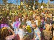 Church Color Runs Hindu Holi Festivals