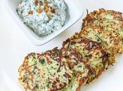 Zucchini Fritters with Spinach Yogurt