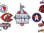 Superhero Mashup Re-imagining Captain America: Civil Heroes Baseball Logos