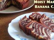 Moist Marble Banana Cake