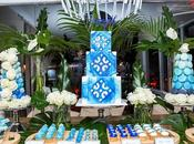 Azure Blue Engagement Party Perfectly Sweet Lollie Buffet